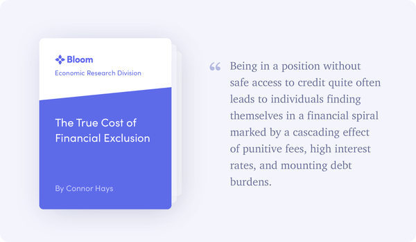 BERD Report: The True Cost of Financial Exclusion