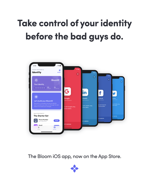Bloom iOS App Launches — Protecting Your Data with Blockchain Security