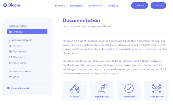 Build Your dApp on Bloom: Announcing Bloom Developer Documentation