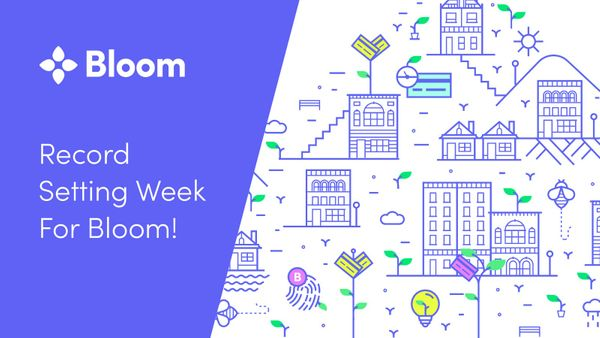 Record Setting Week for Bloom!