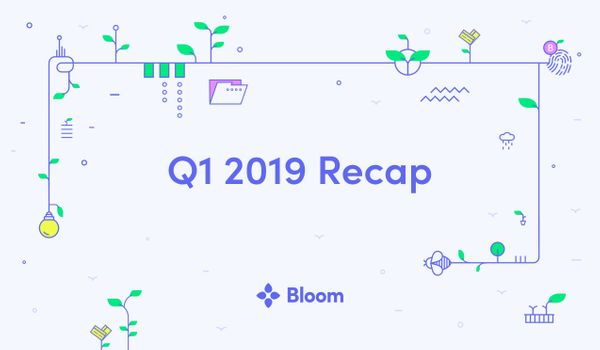 Bloom Q1 2019 Recap